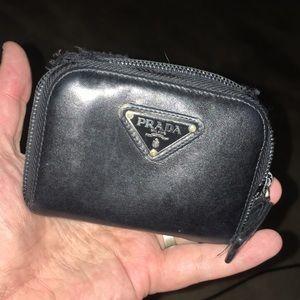 Prada leather coin purse